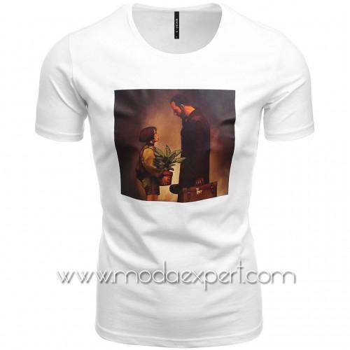 Мъжка тениска с щампа №E210-W