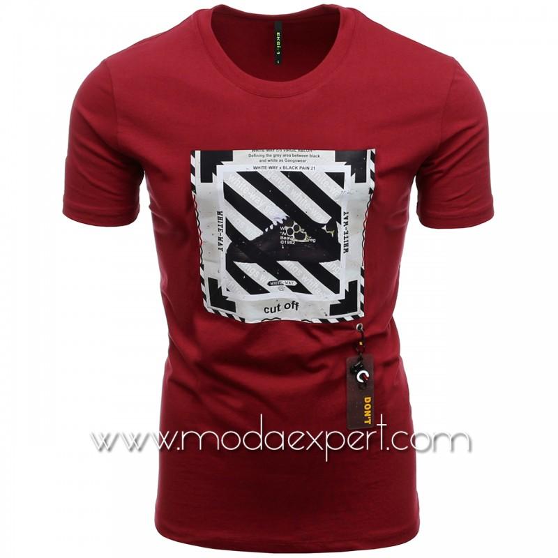 Мъжка тениска с гумена деорация №E234-C