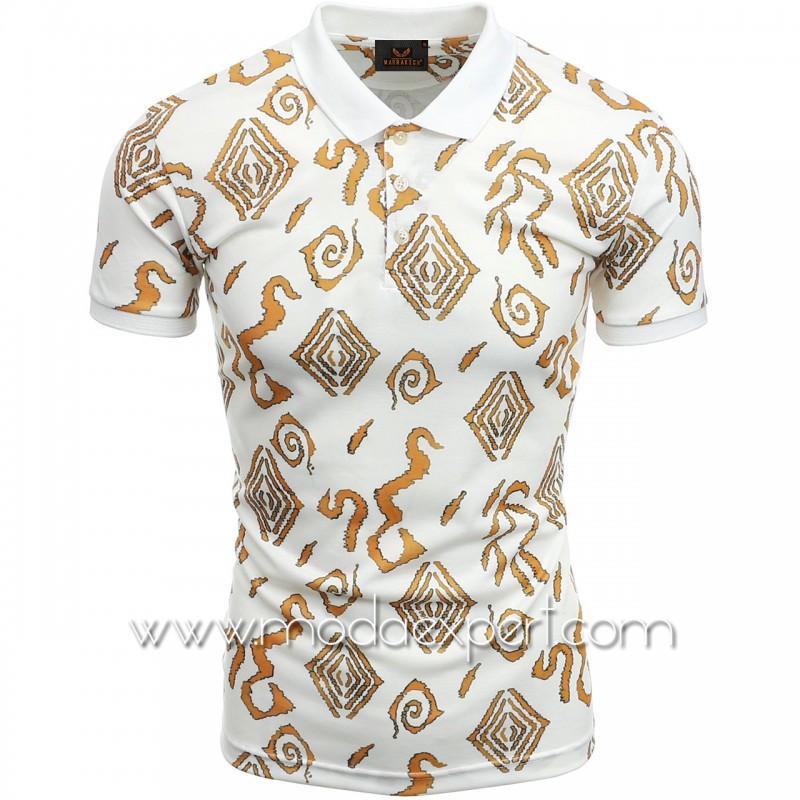 Мъжка тениска с яка №MR880-WG