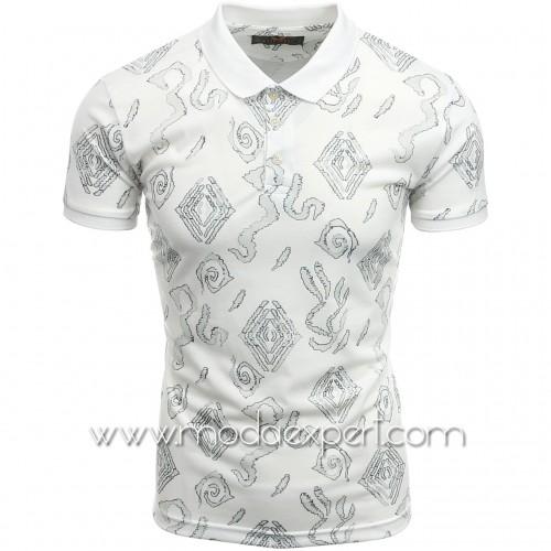 Мъжка тениска с яка №MR880-WS