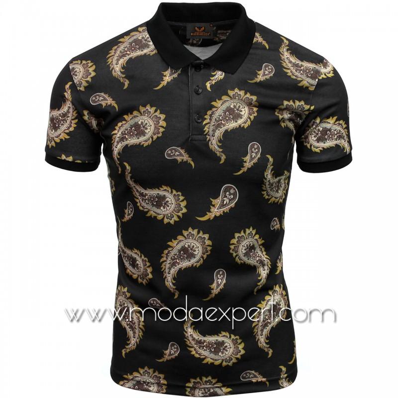 Мъжка тениска с яка №MR908-B