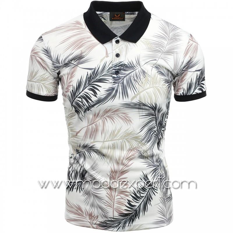 Мъжка тениска с яка №MR920-W