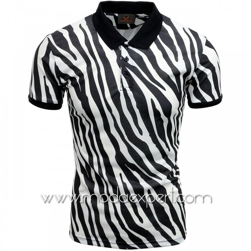 Мъжка тениска с яка №MR950-B