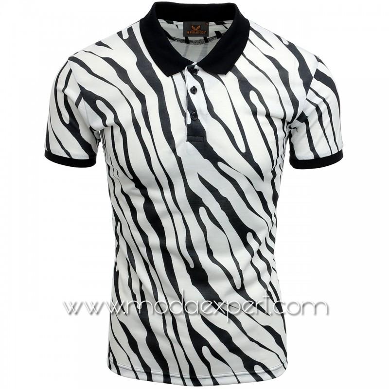 Мъжка тениска с яка №MR950-W
