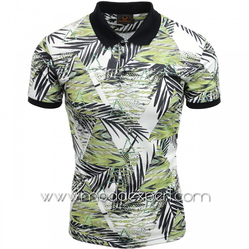 Мъжка тениска с яка №MR957-G
