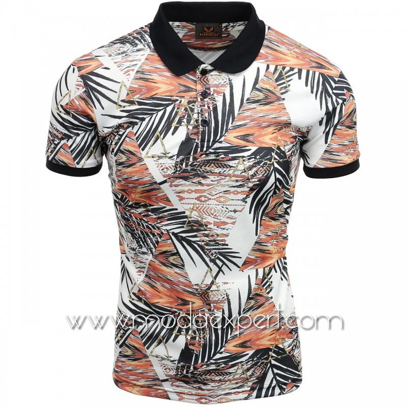 Мъжка тениска с яка №MR957-O