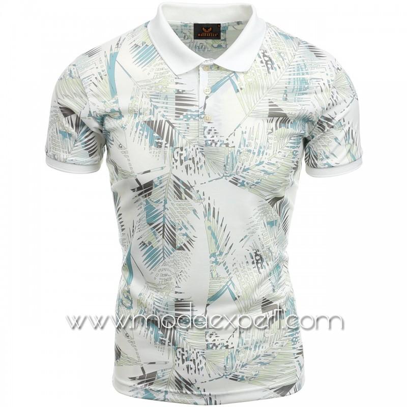 Мъжка тениска с яка №MR957-S